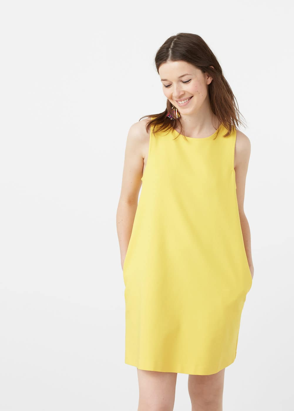 Shift cotton dress | MANGO