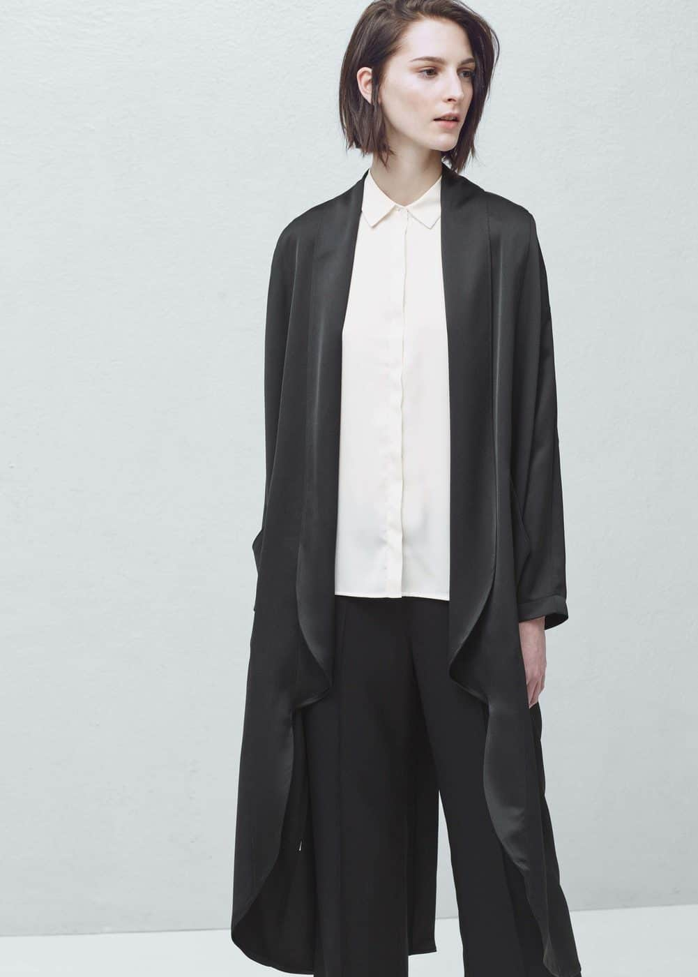 Satined trench | MANGO
