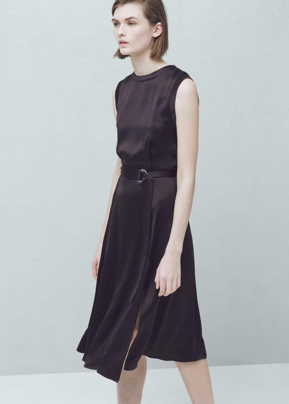 belt satin dress dresses for mango usa