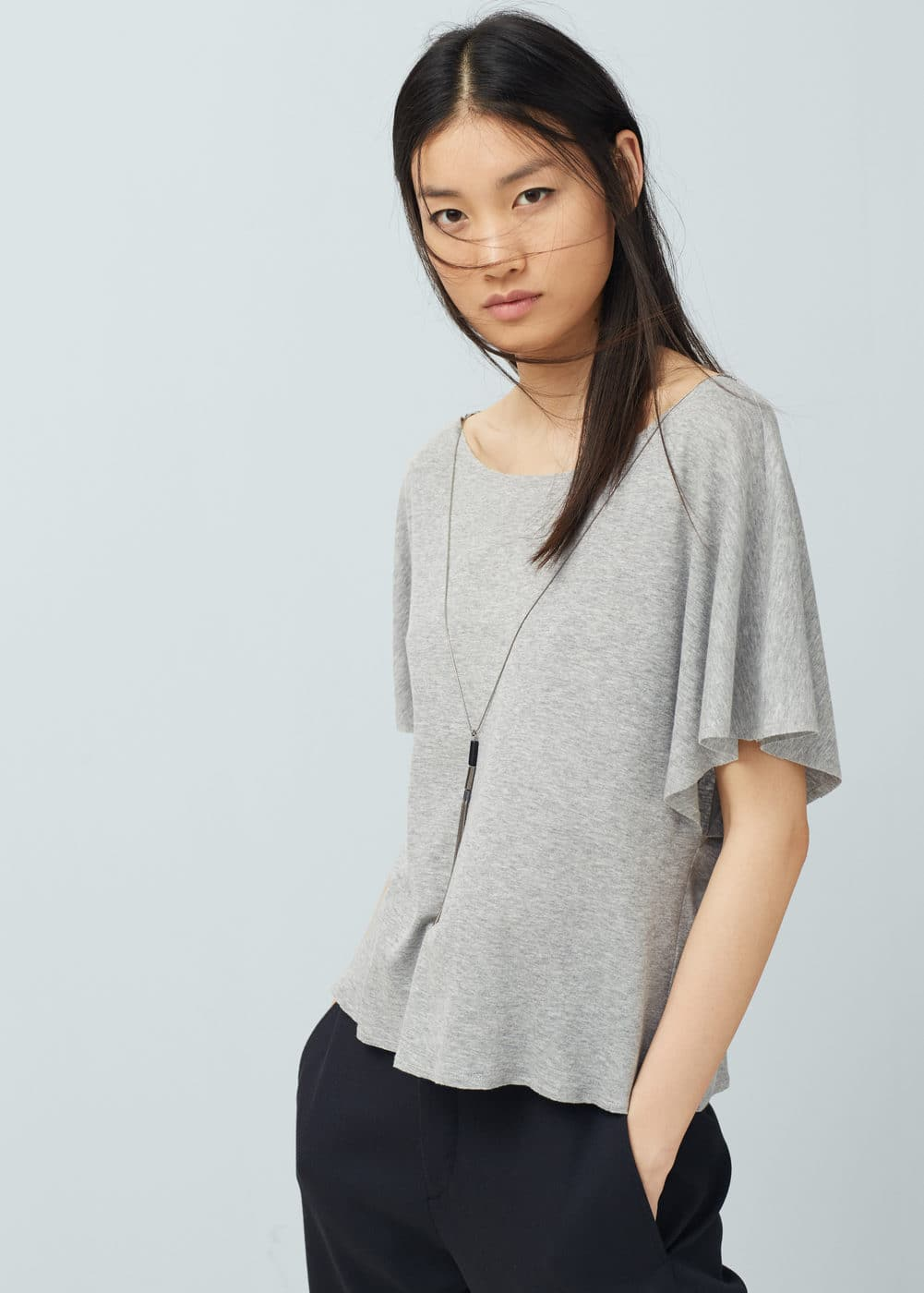 Decorative chain t-shirt | MANGO