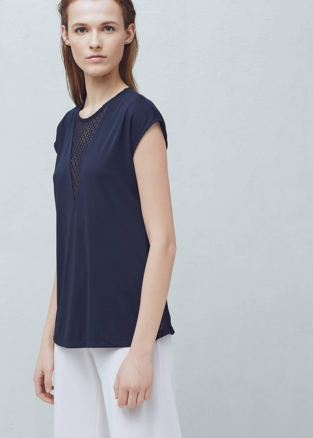Openwork panel blouse | MANGO