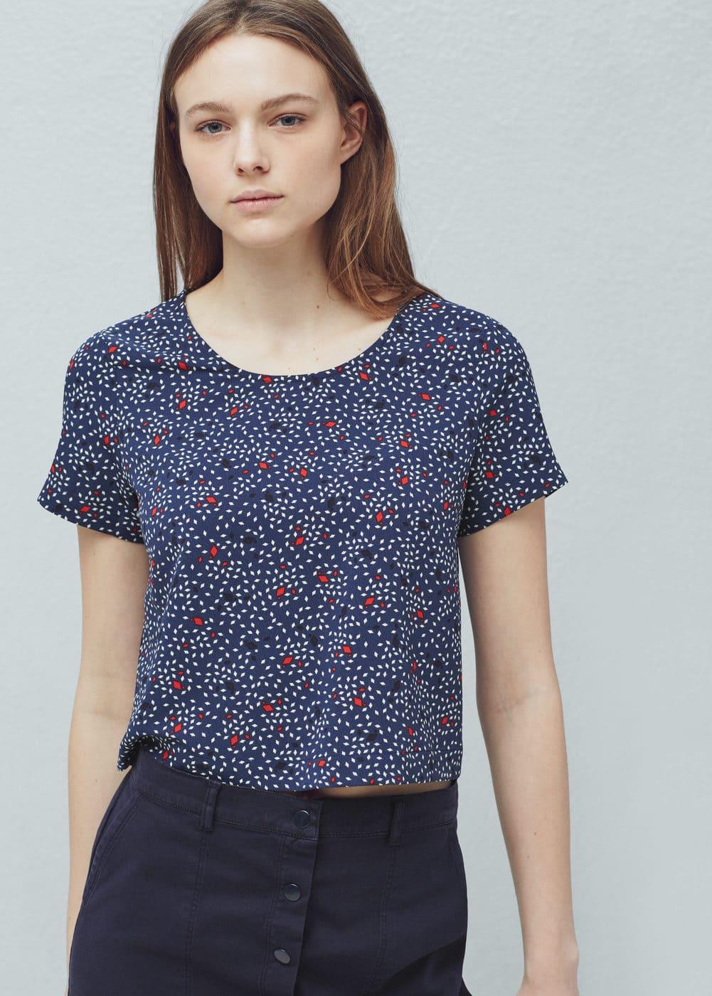 Floral print blouse   MANGO