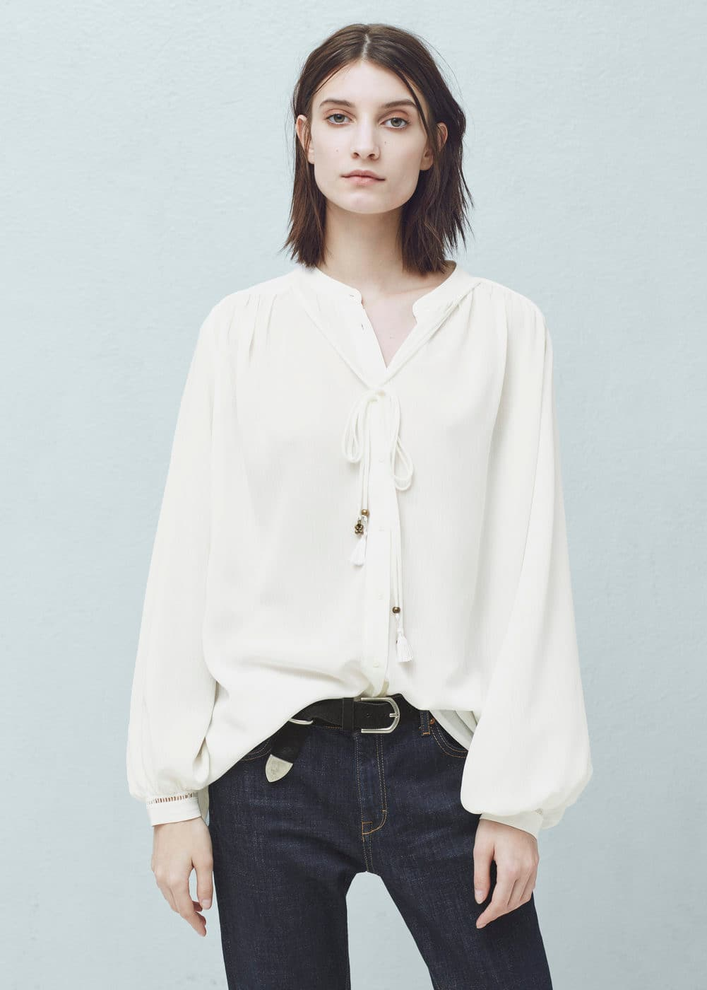 Flowy Shirt Women Mango Usa