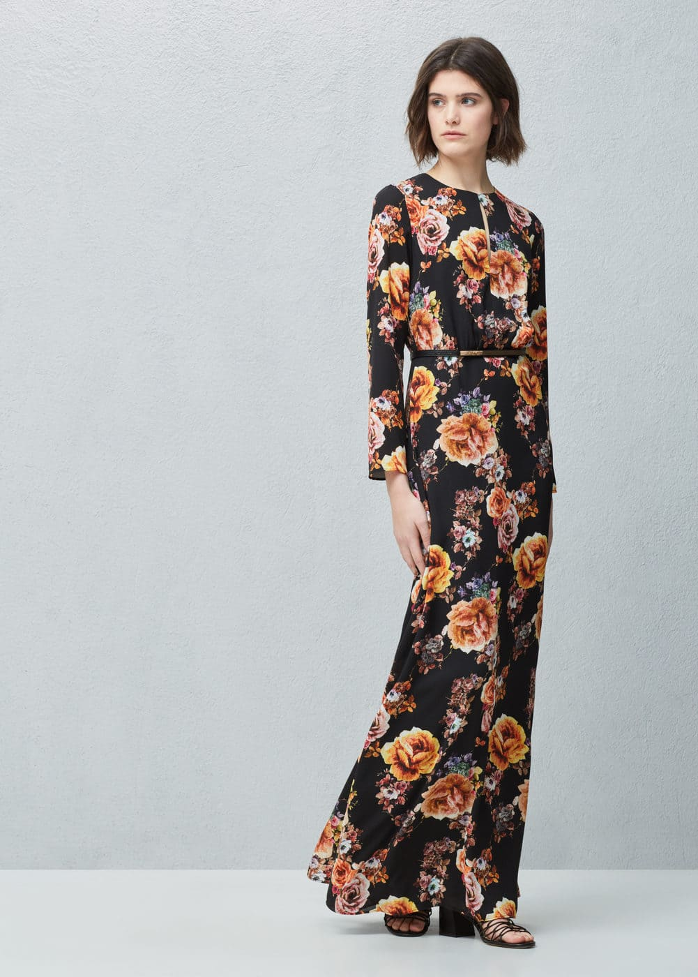 Floral print long dress | MANGO