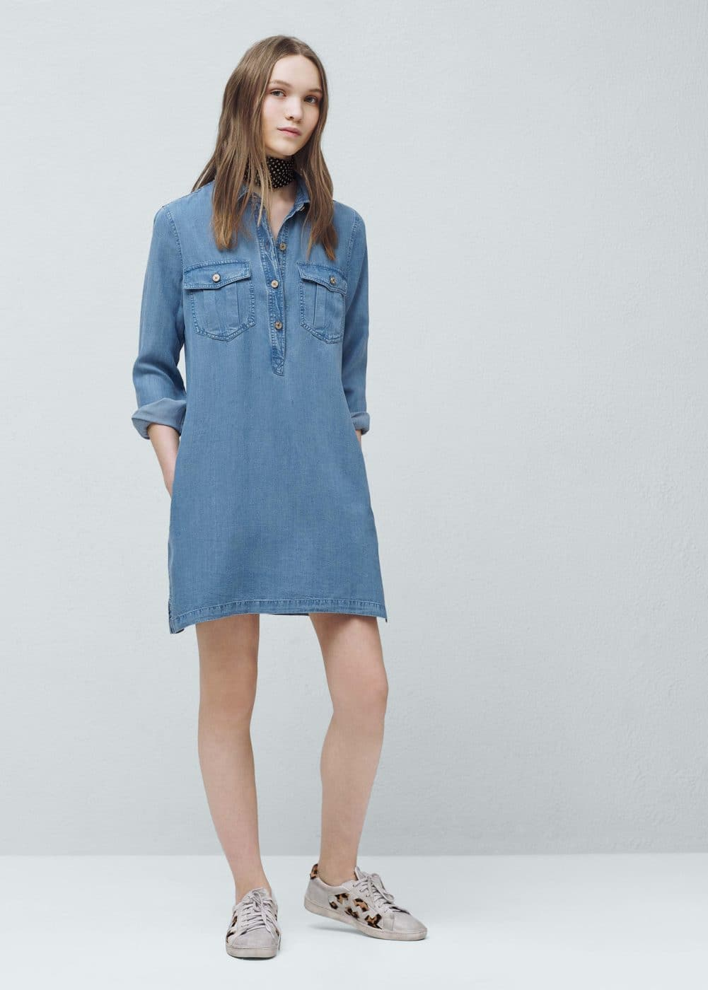 Robe denim fibre naturelle douce | MANGO