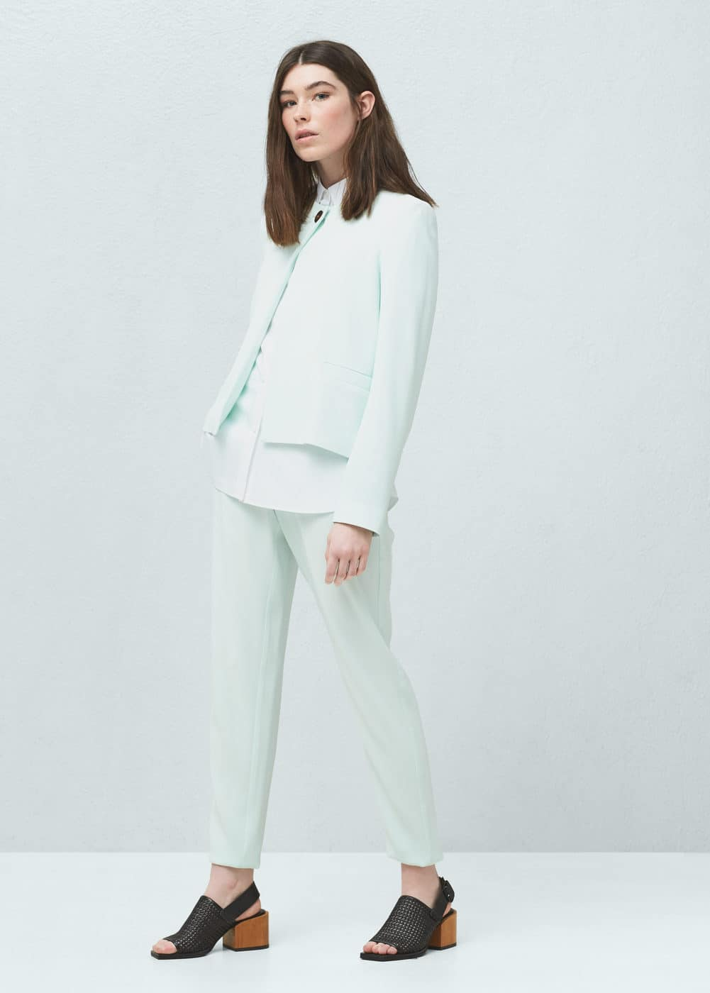 Contrasted button jacket | MANGO