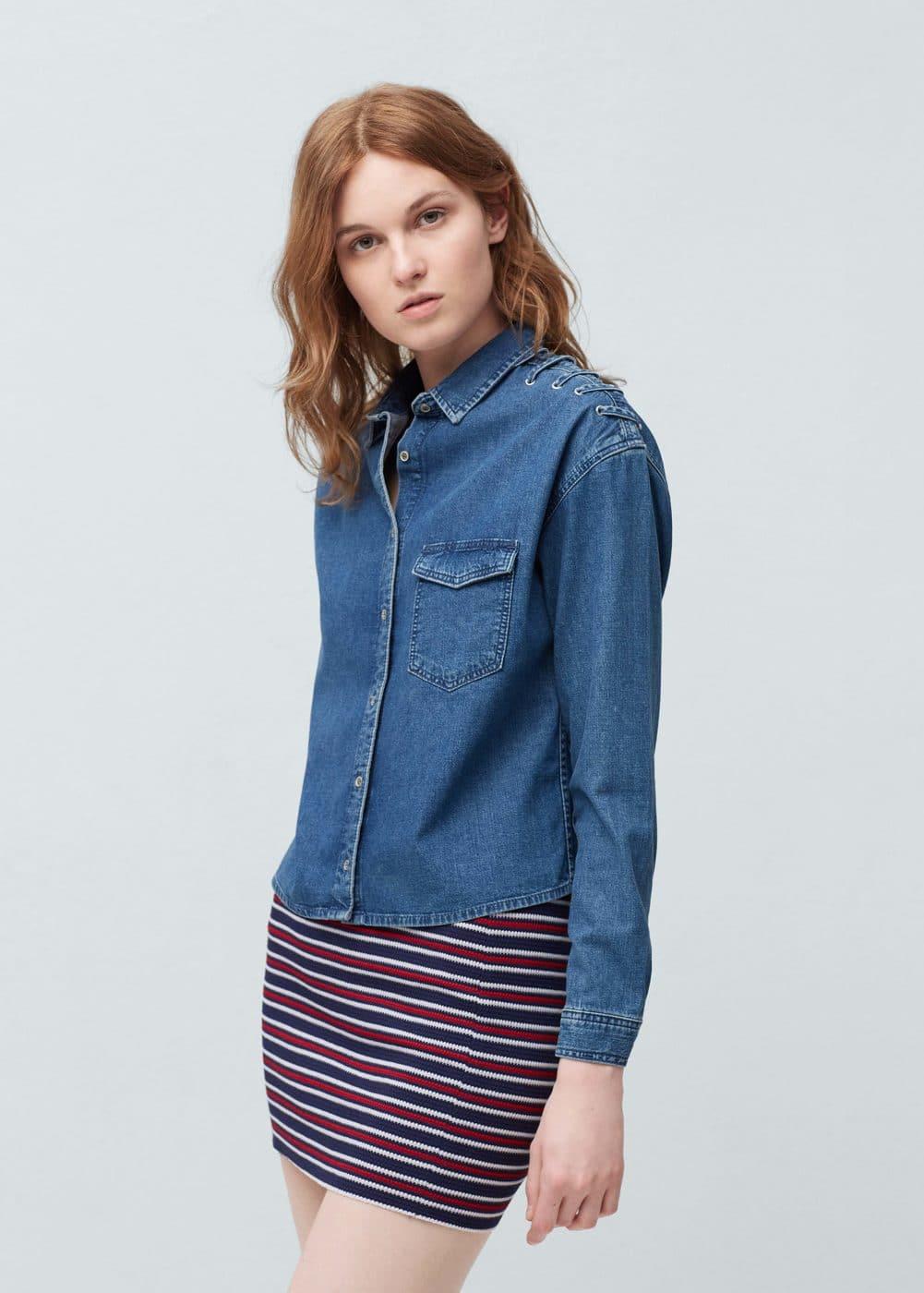 Jacquard cotton skirt | MANGO