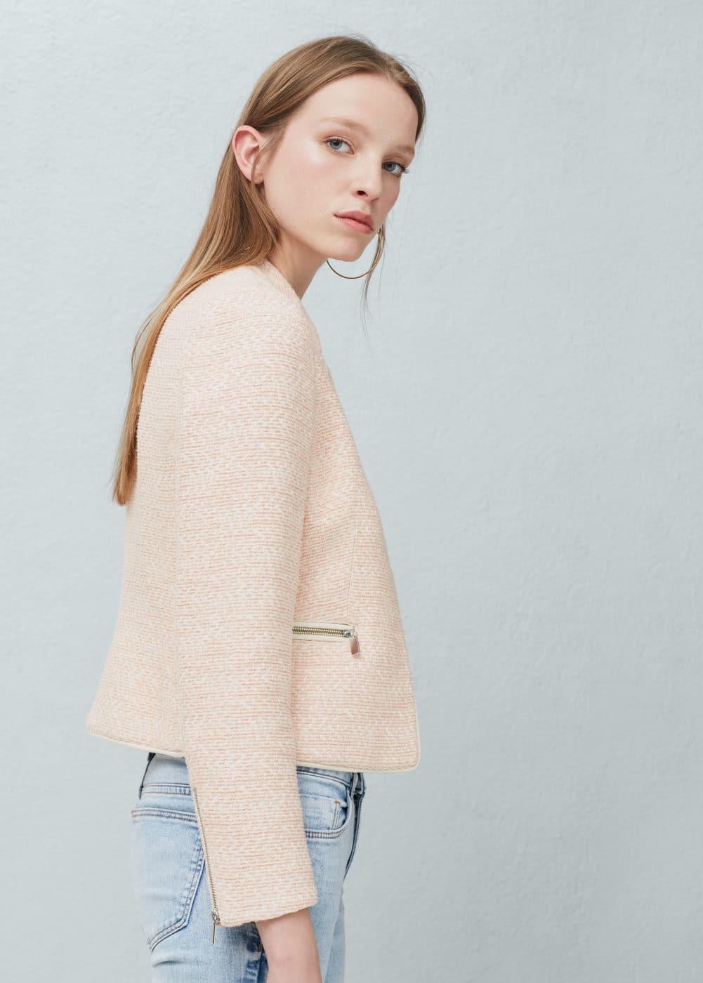 Pocketed cotton jacket | MANGO