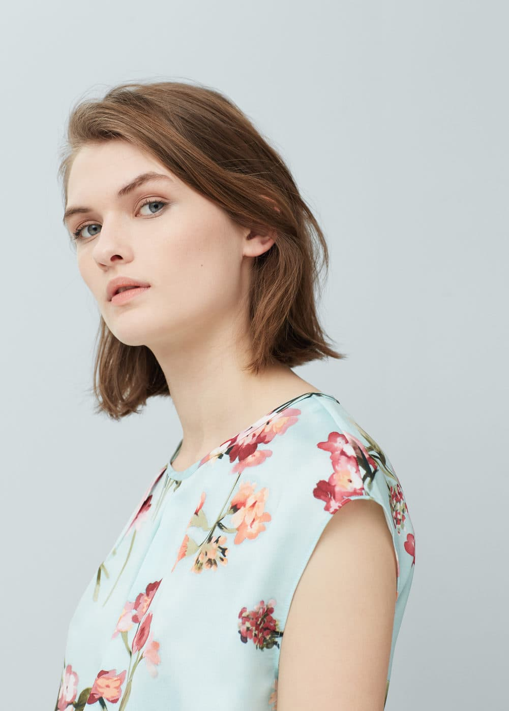Floral print top | MANGO