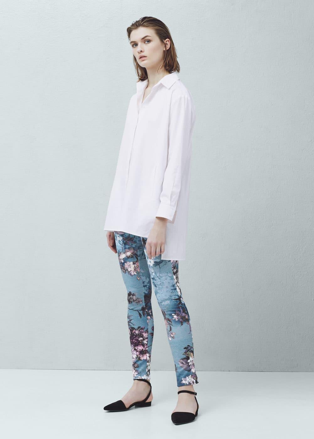 Floral print leggings   MANGO