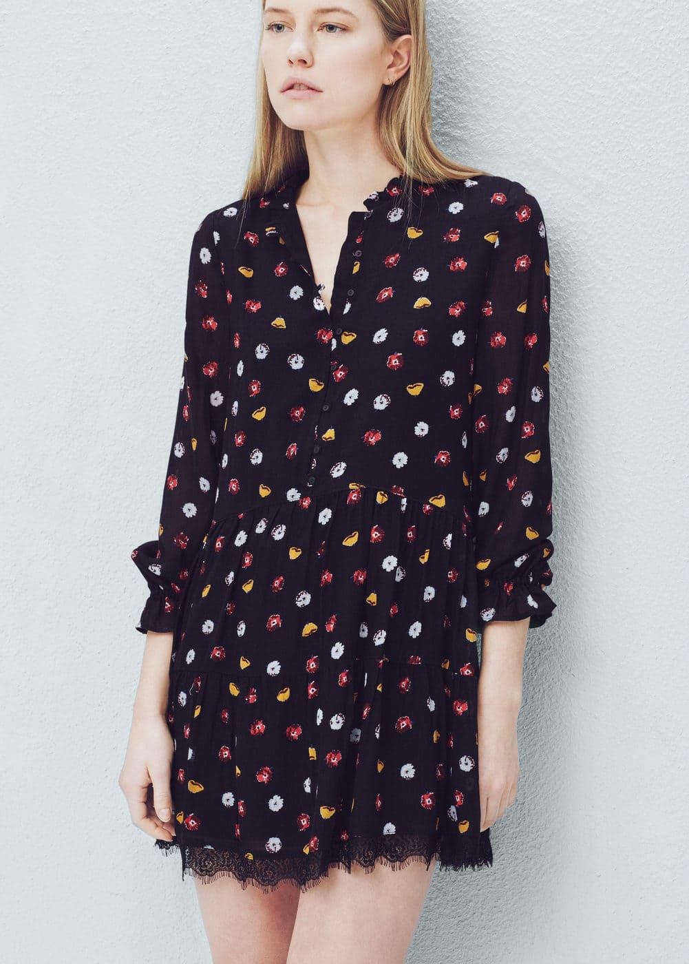 Printed flared dress | MANGO