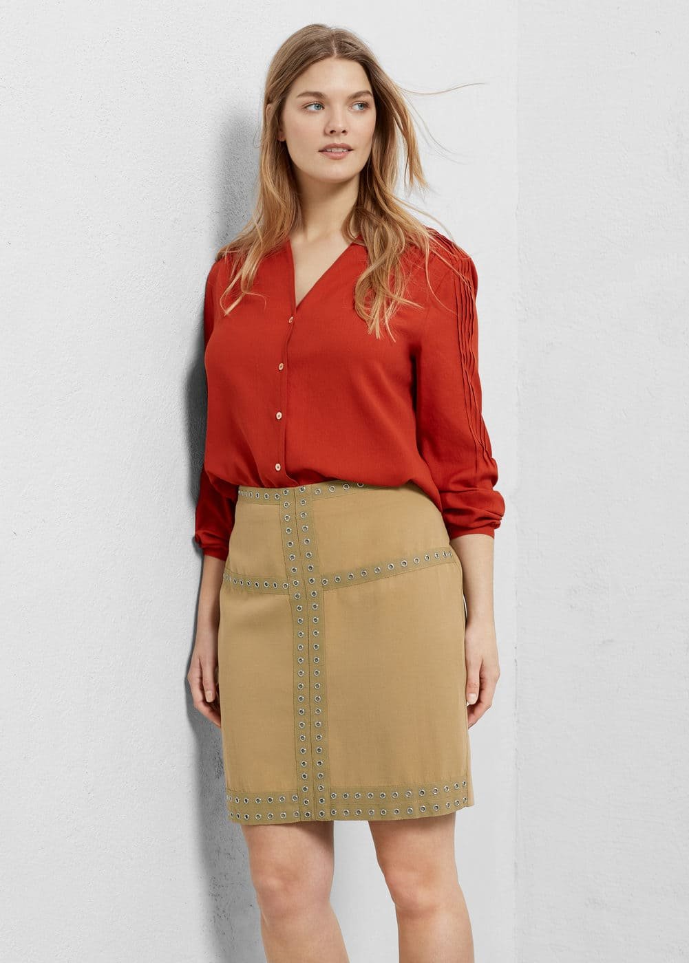 Tencel® fabric skirt | VIOLETA BY MANGO