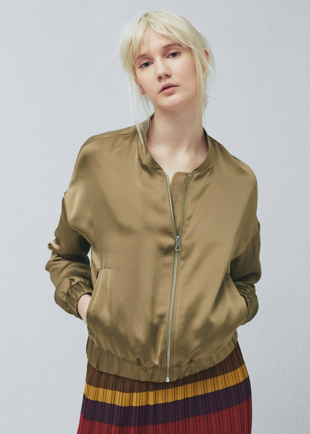 Satin bomber jacket - Woman | MNG Australia