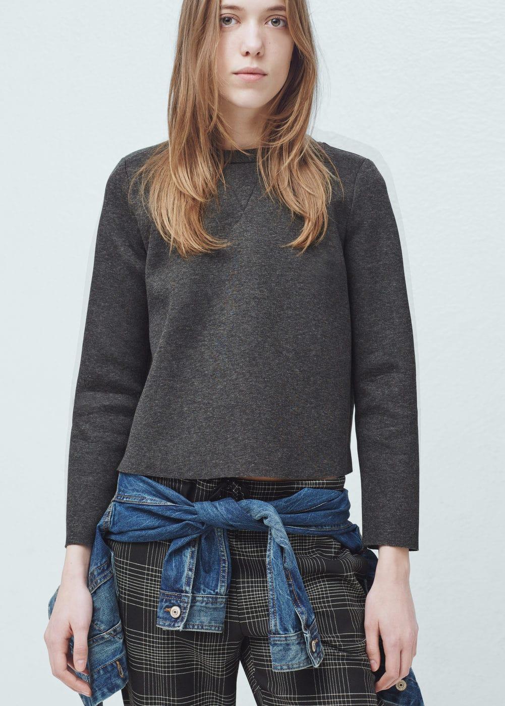 Neoprene-effect sweatshirt   MANGO