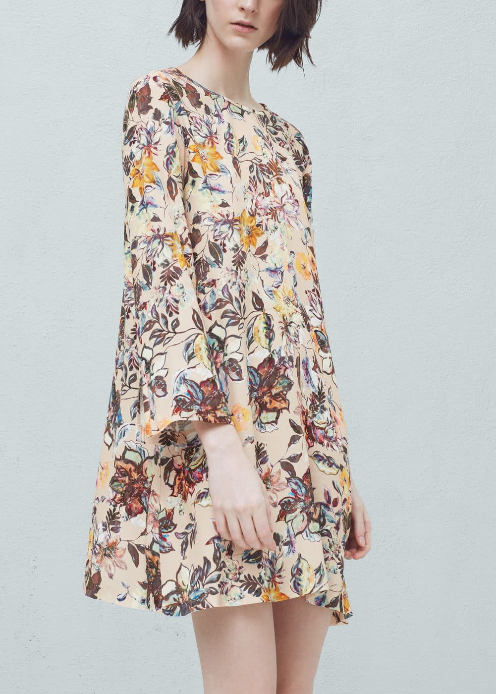 Floral-print flowy dress   MANGO