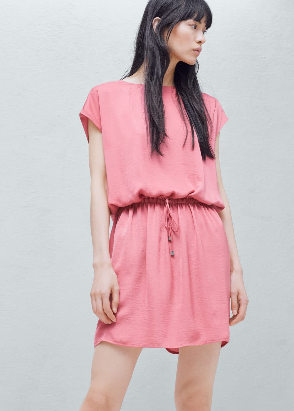Elastic waist dress | MANGO