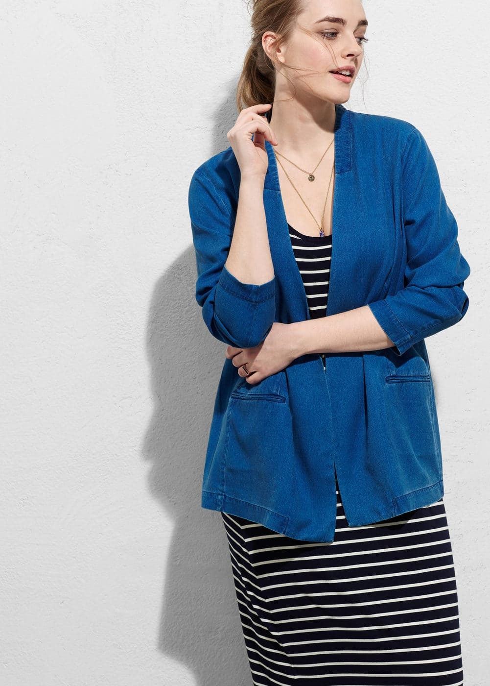 Tencel® fabric blazer | VIOLETA BY MANGO