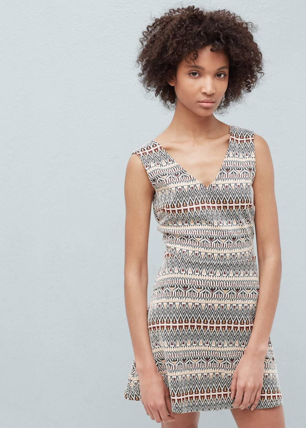 Back vent dress | MANGO