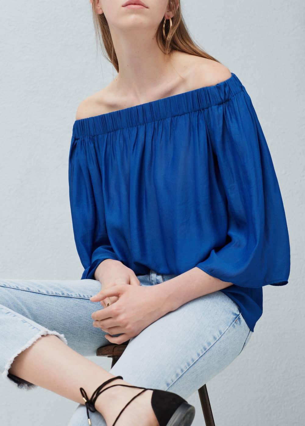 Off-shoulder blouse   MANGO