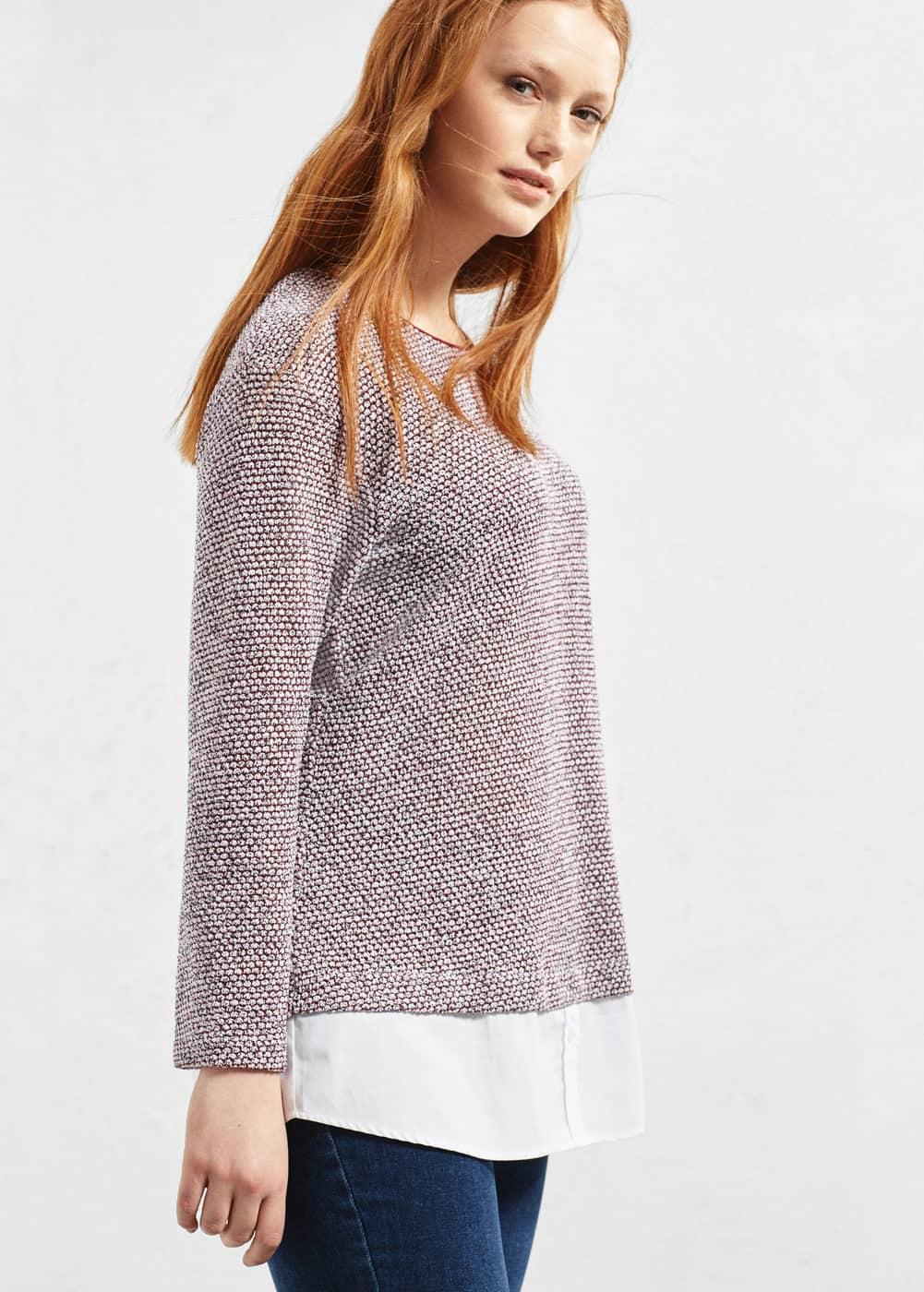 Textured cotton-blend sweatshirt   MANGO