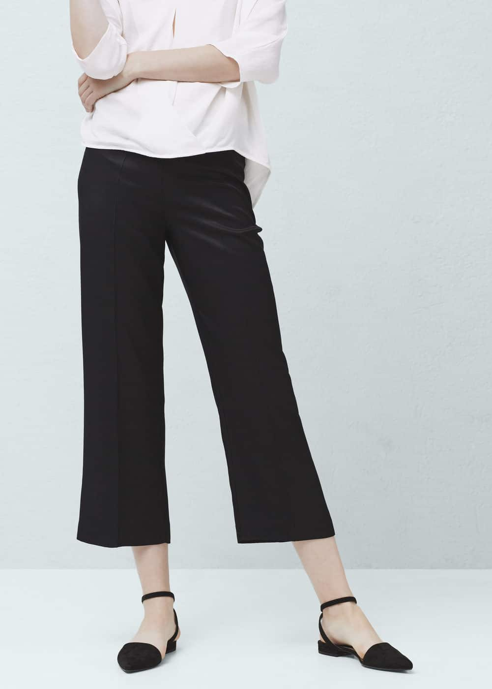 Straight-cut crop trousers | MANGO