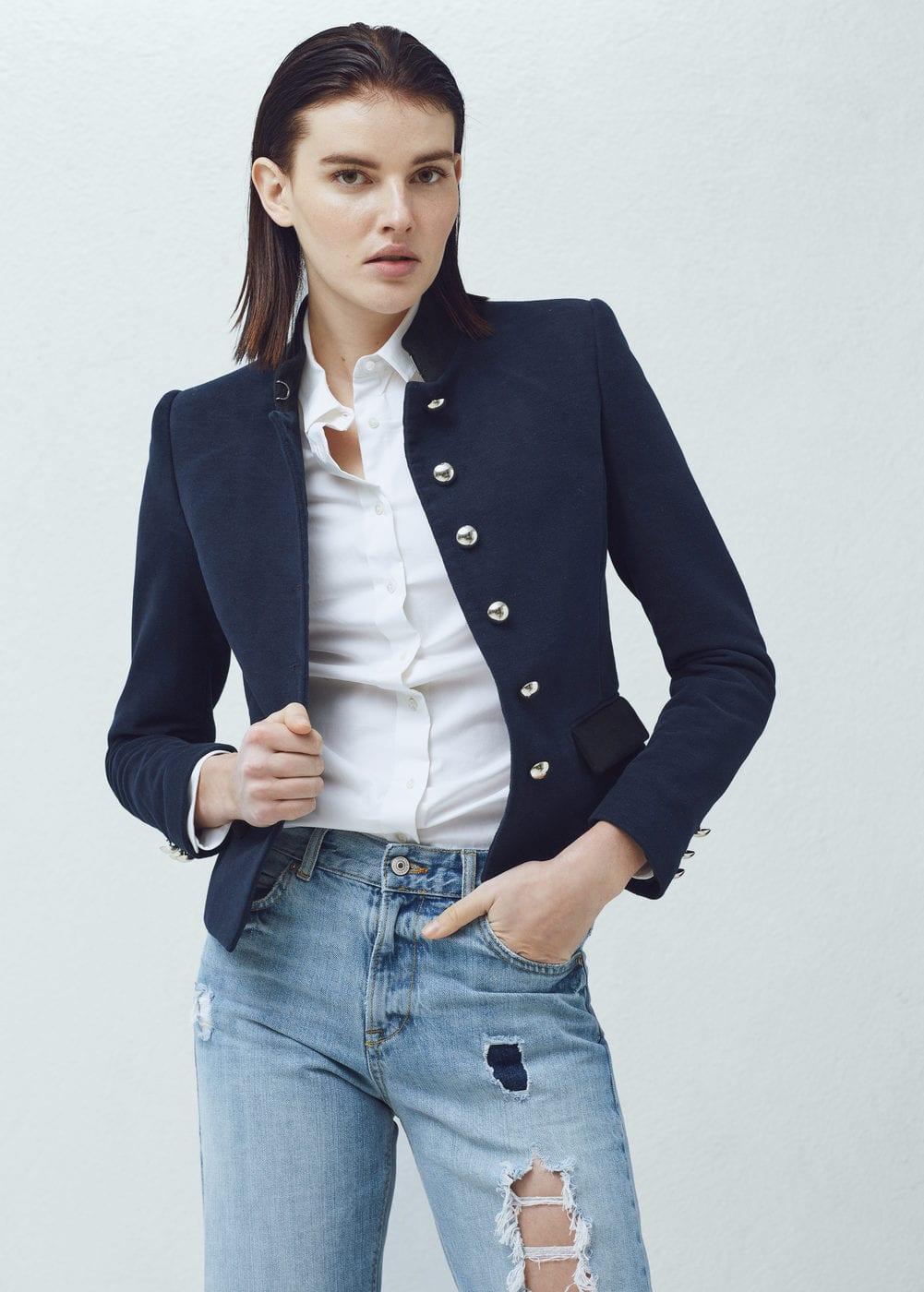 Buttoned cotton jacket | MANGO