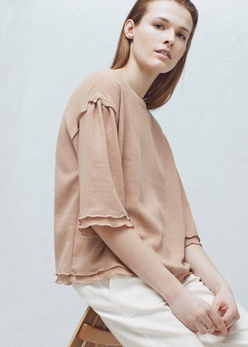 Fluted hem blouse | MANGO