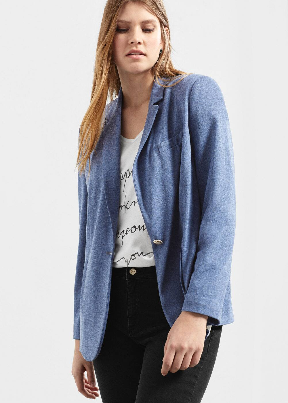 Flecked blazer | VIOLETA BY MANGO