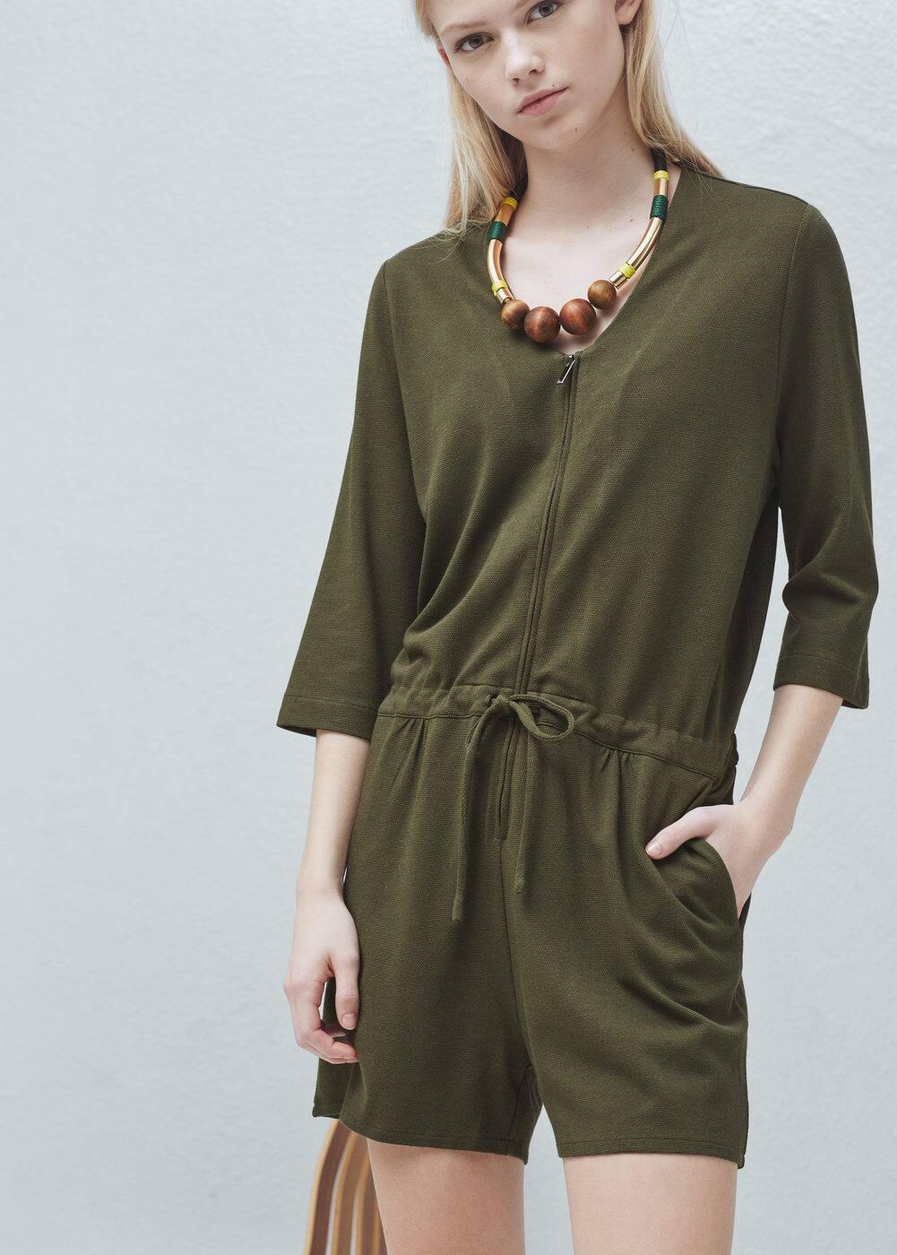 Cotton short jumpsuit | MANGO