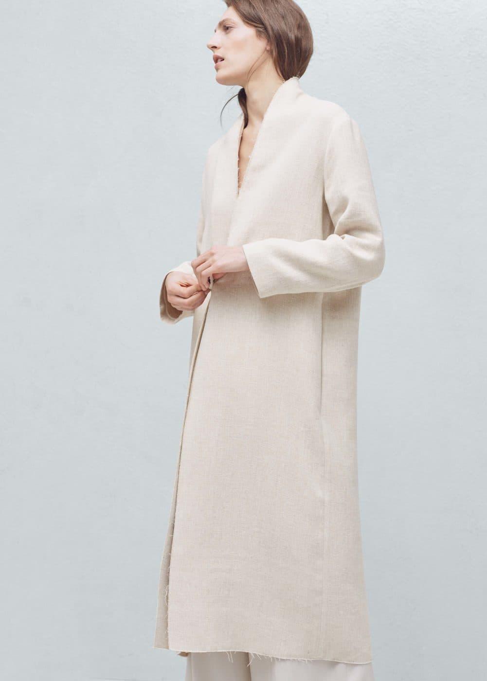 Premium - linen coat | MANGO
