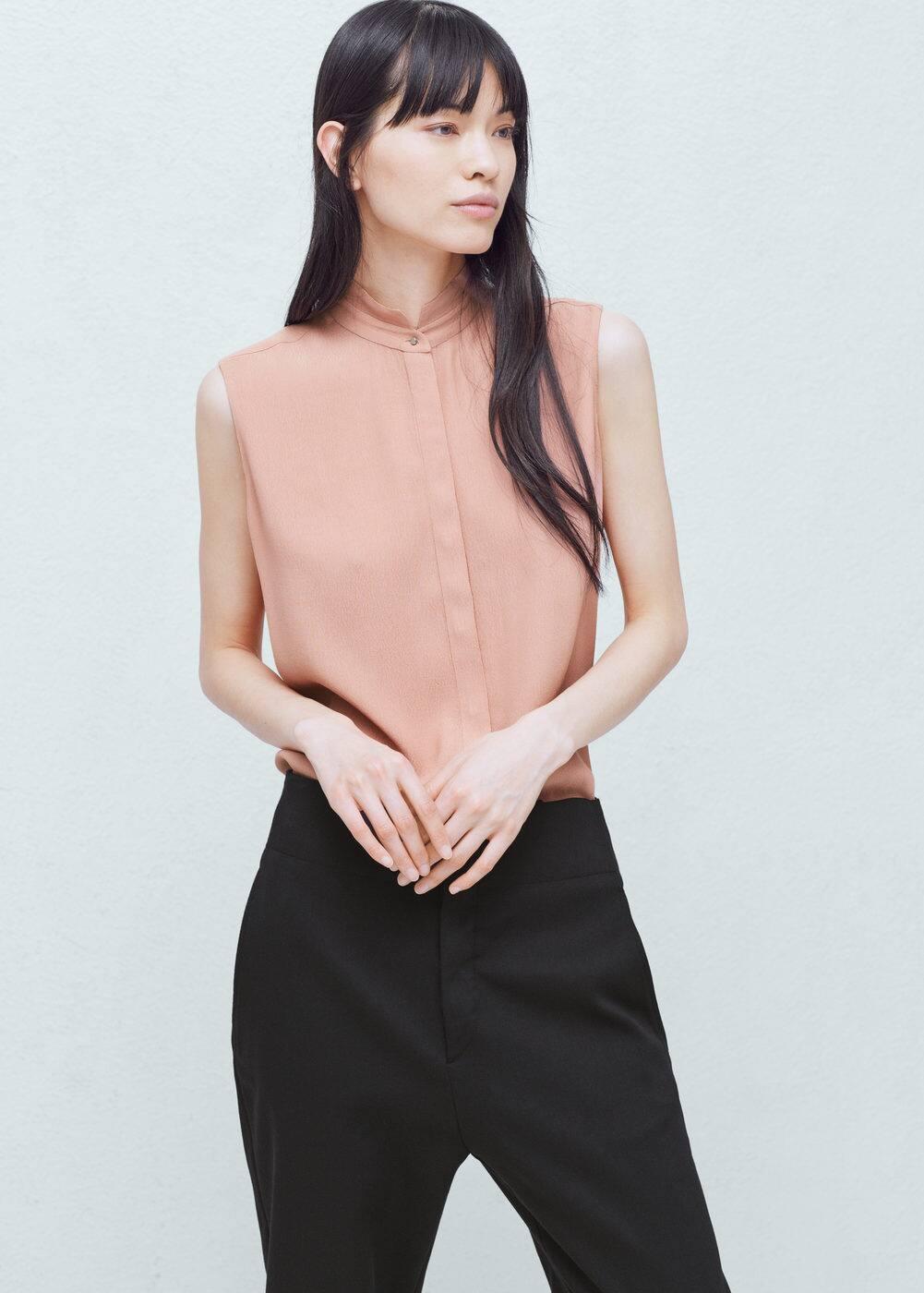 Buttoned flowy blouse | MANGO