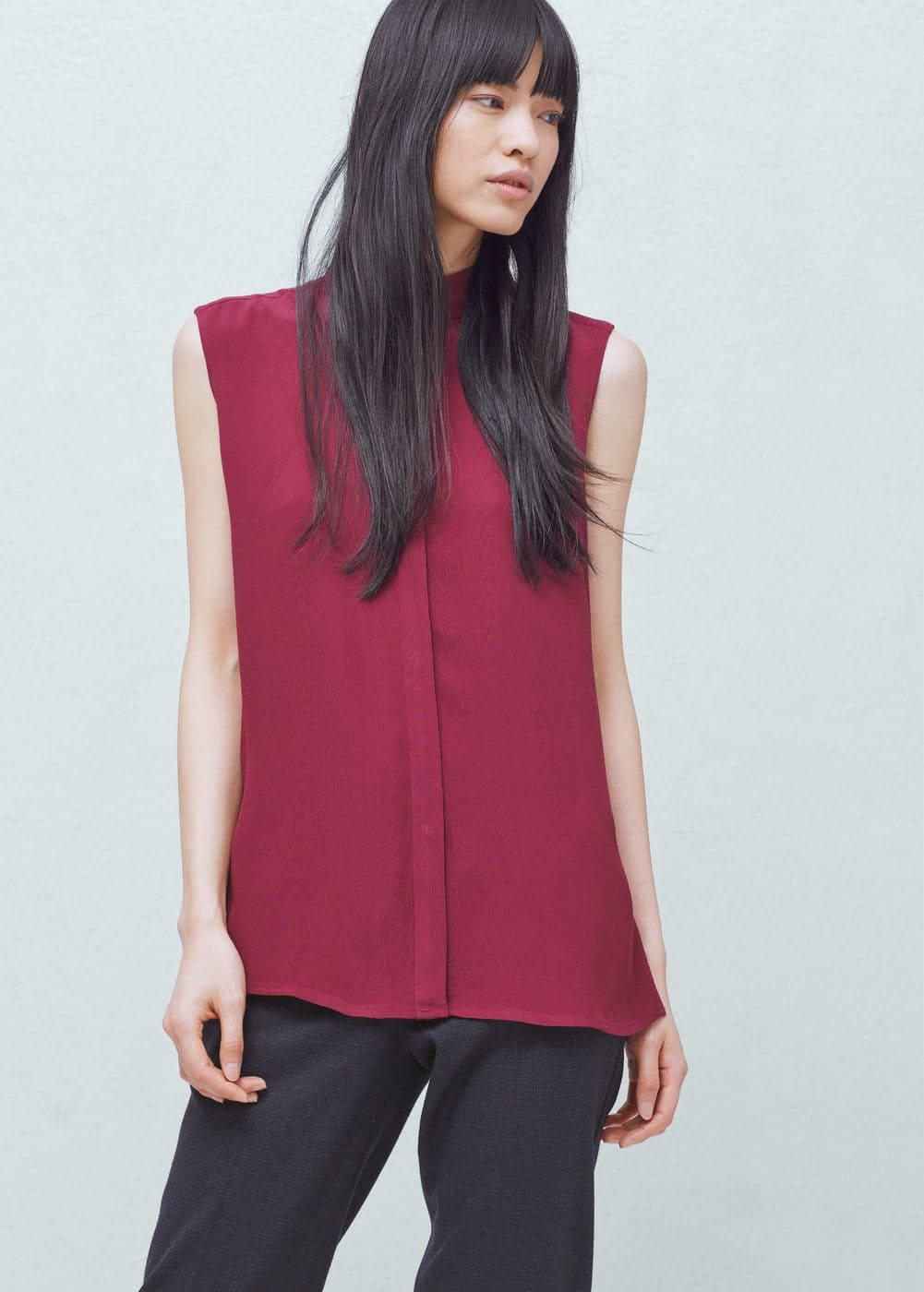 Buttoned flowy blouse   MANGO