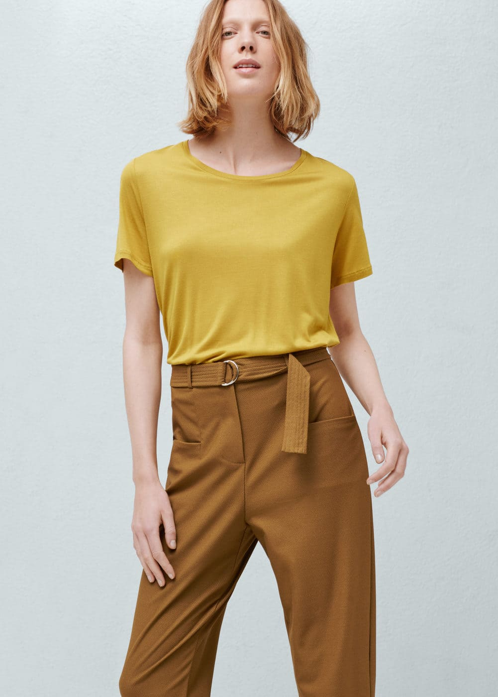 Patch pockets trousers | MANGO