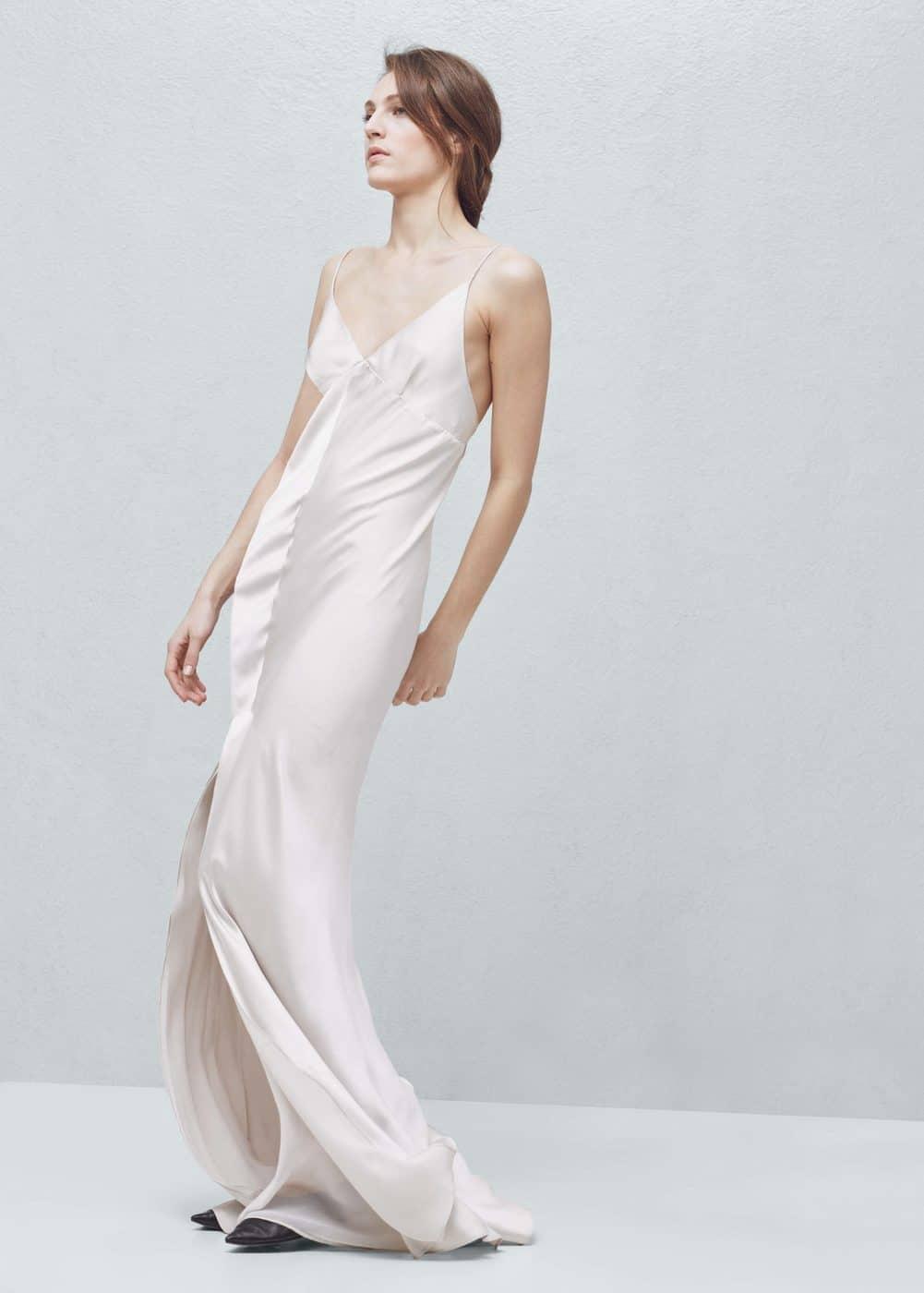 Cut-out silk dress - Woman | MANGO Denmark