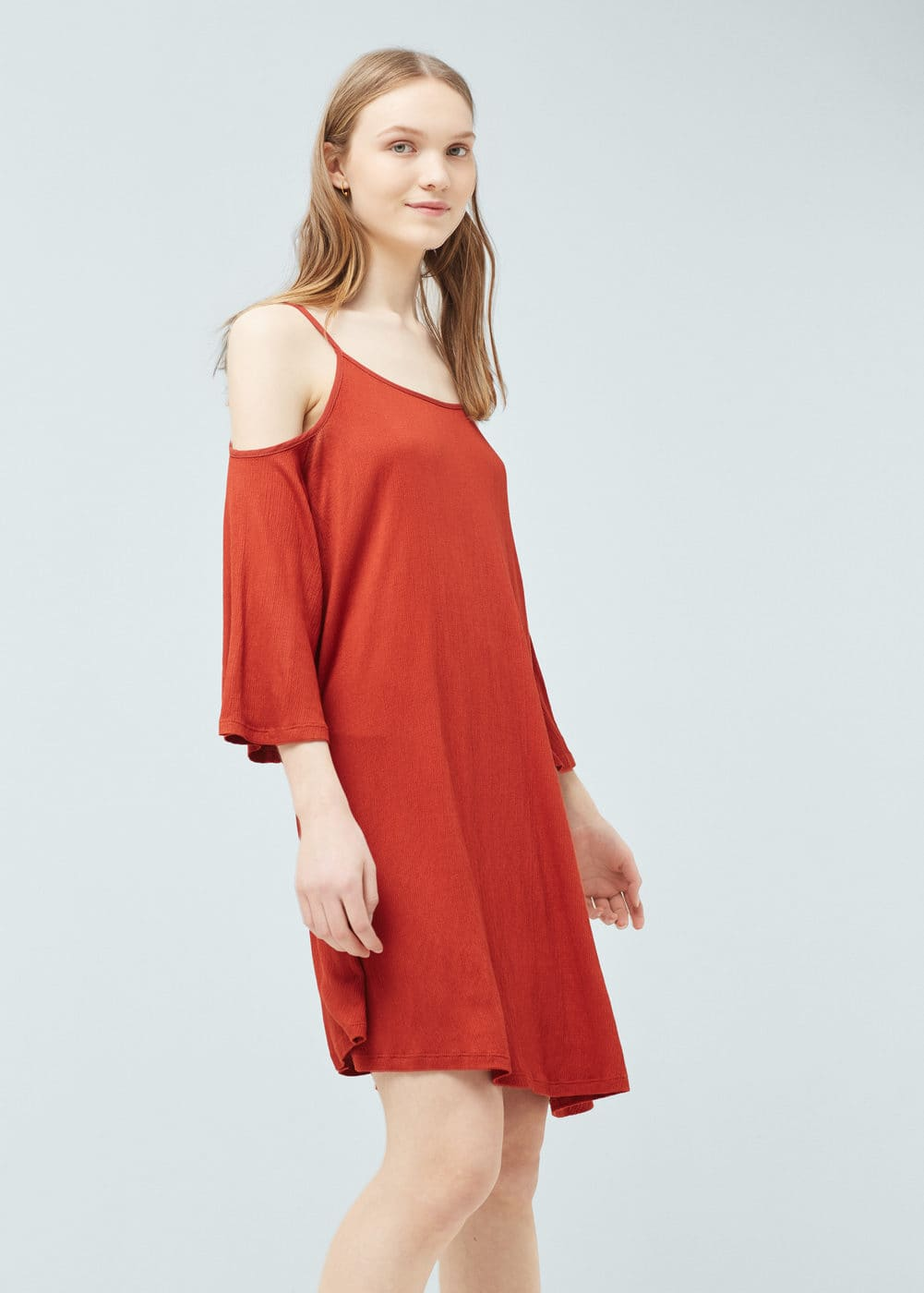 Off shoulder dress | MANGO