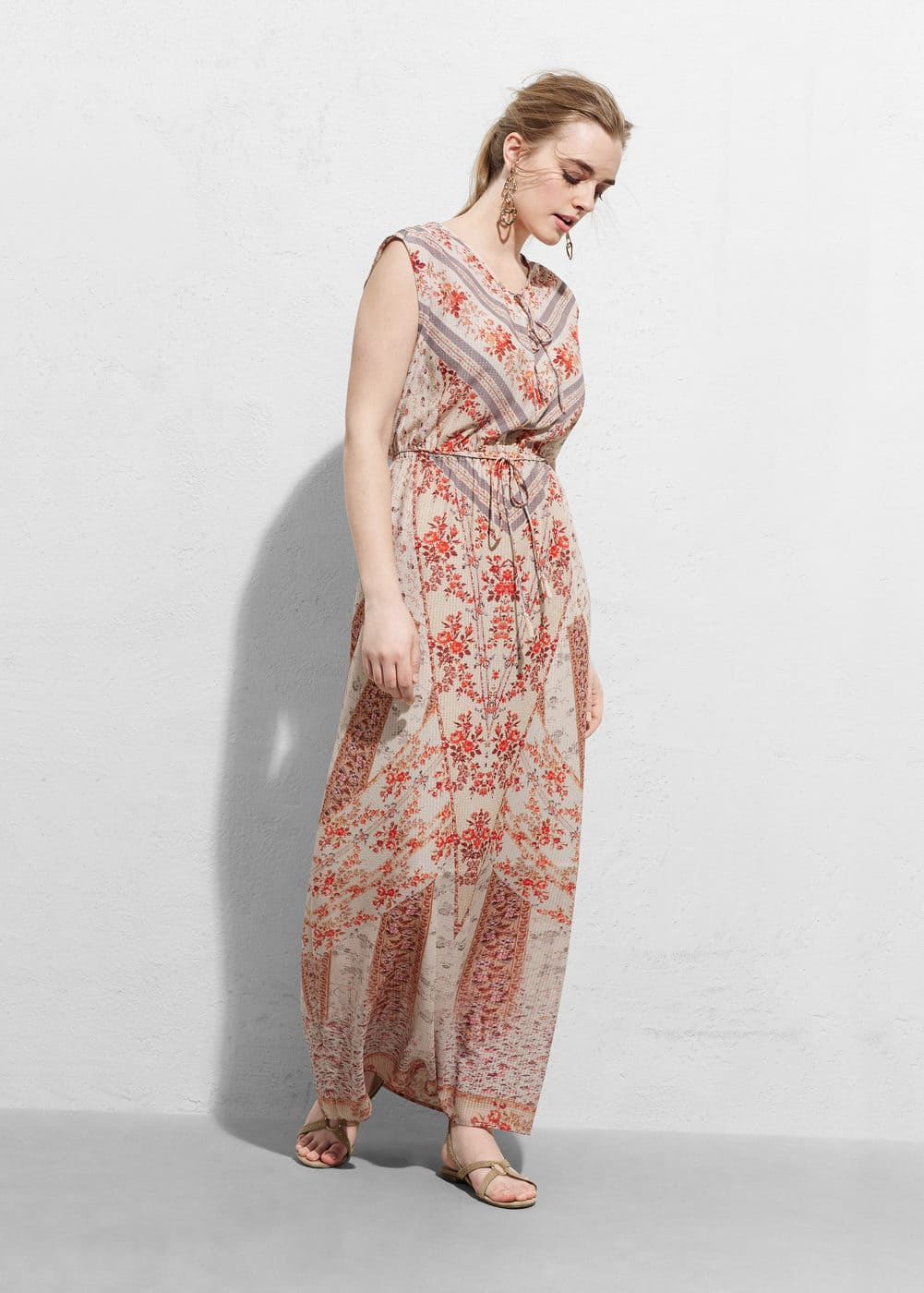 Mixed gown | MANGO