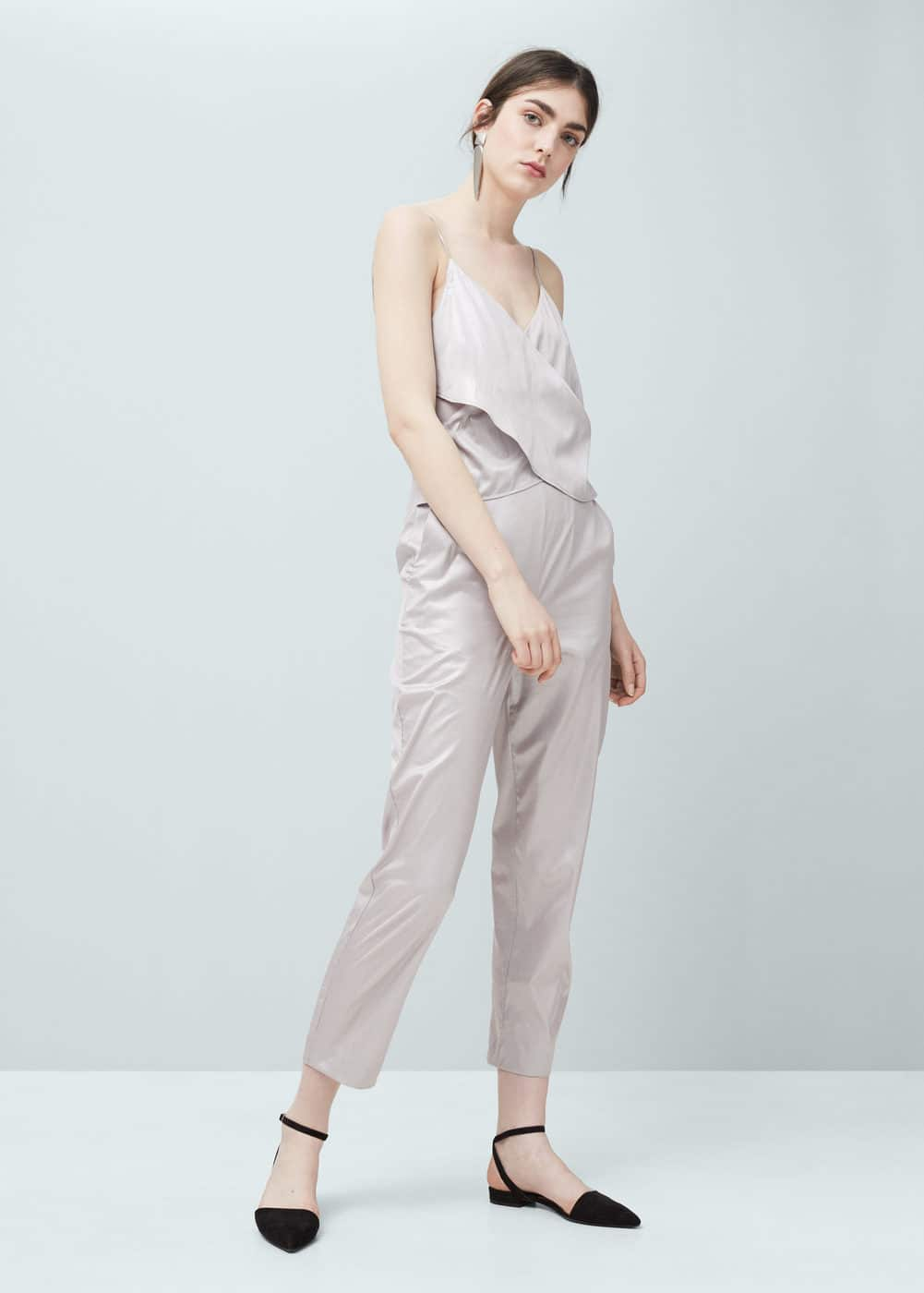 Wrap long jumpsuit | MANGO