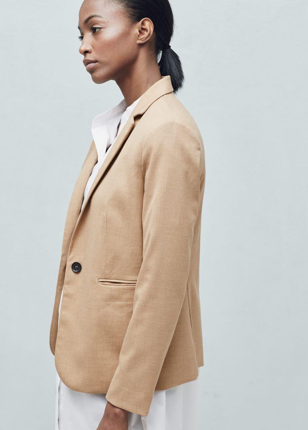 Essential structured blazer | MANGO