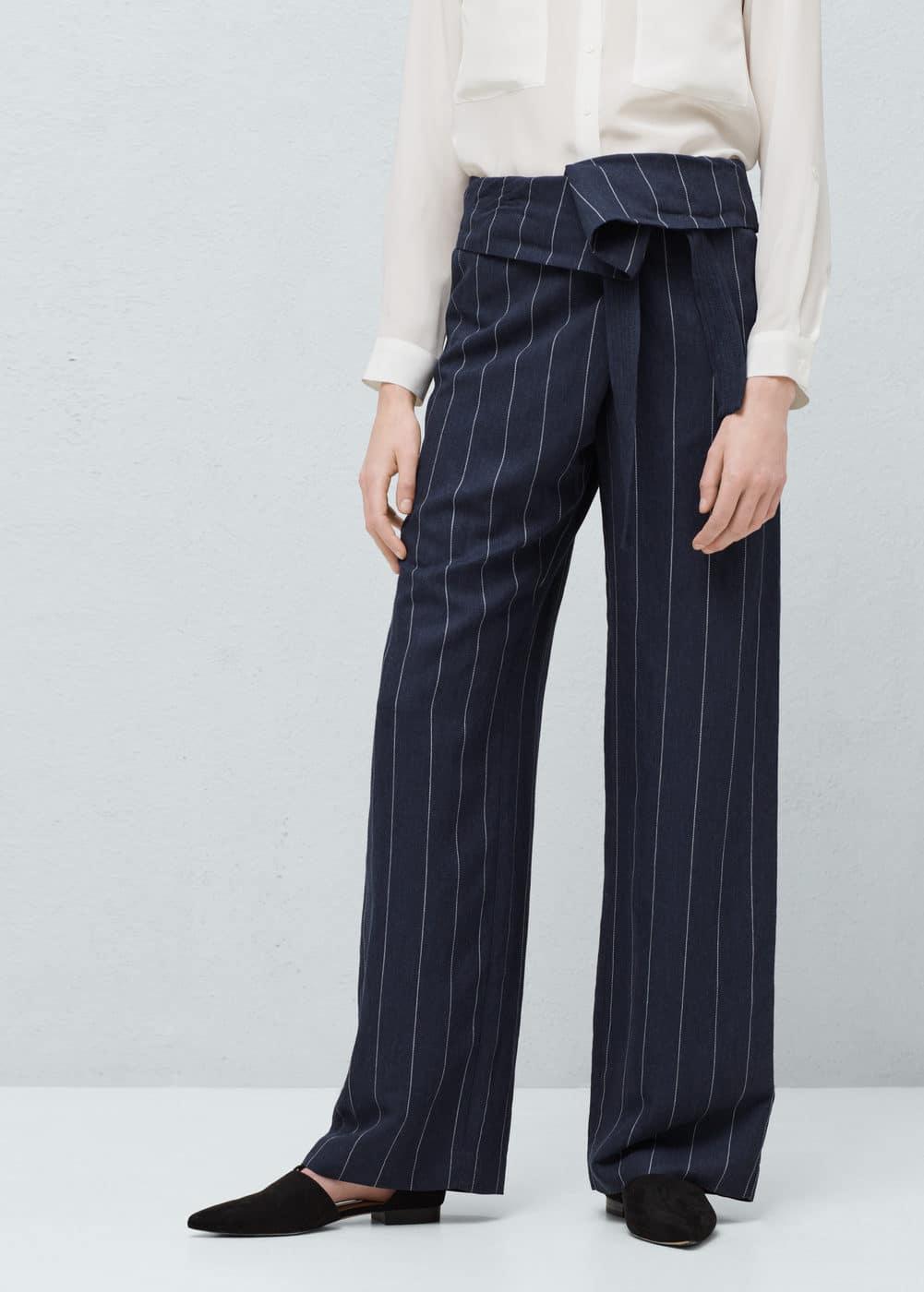 Flowy linen-blend trousers | MANGO