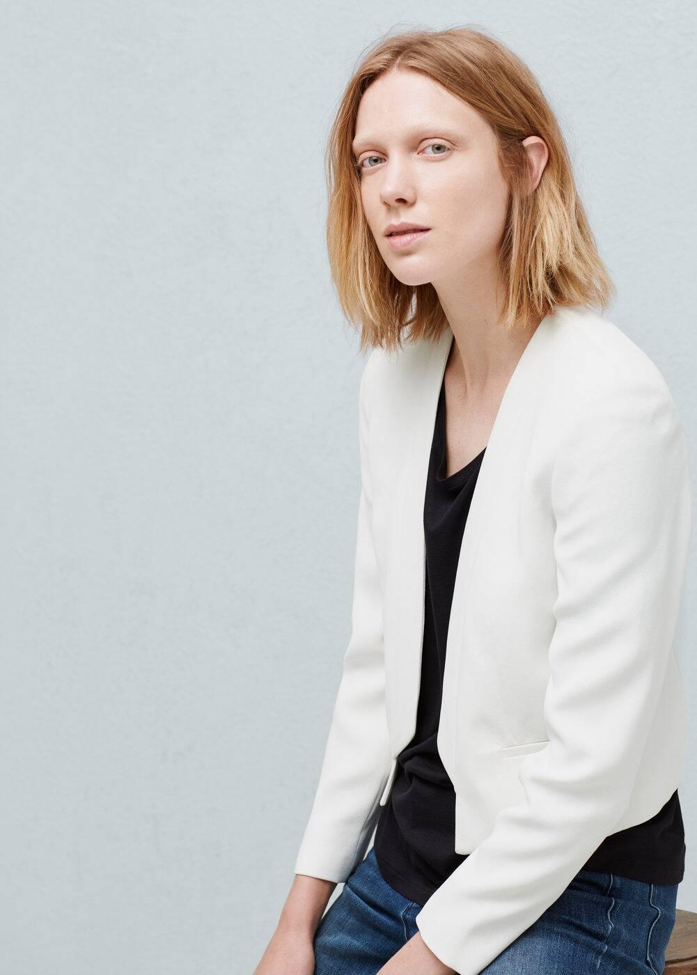 Inverted lapels jacket | MANGO