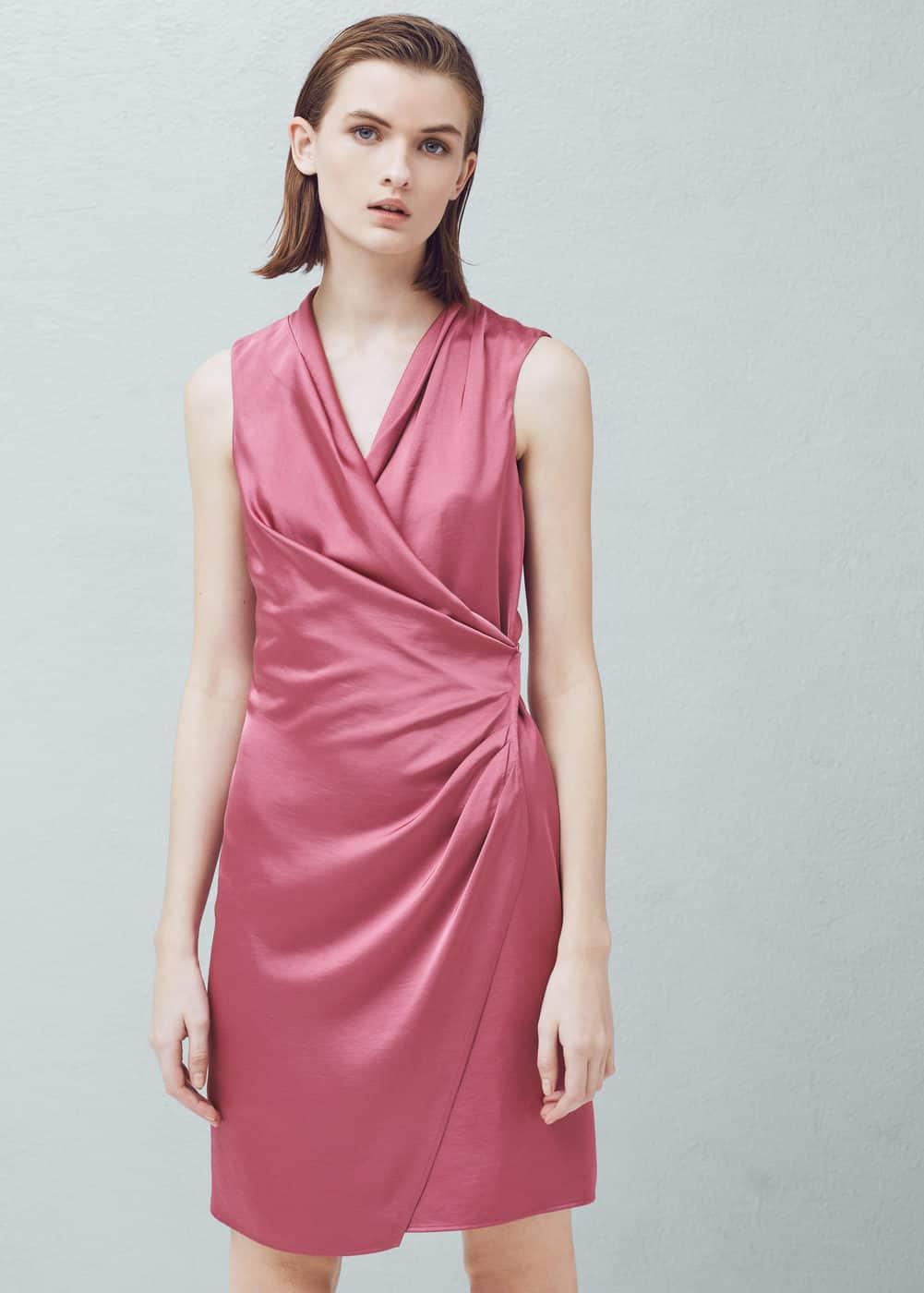 Σατέν κρουαζέ φόρεμα | MANGO ΜΑΝΓΚΟ