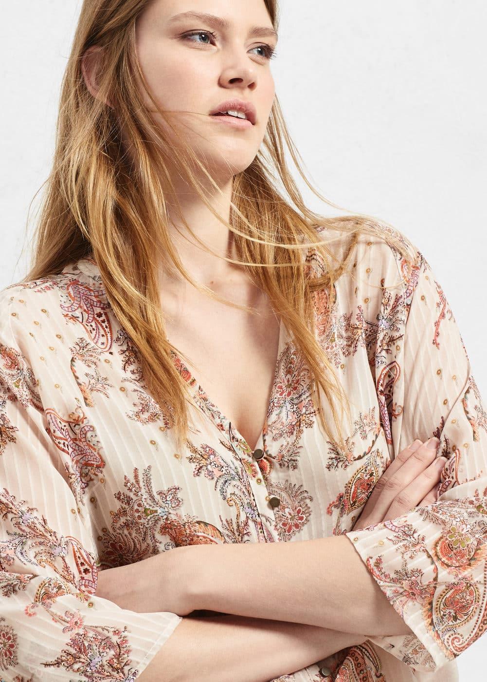 Paisley print blouse | VIOLETA BY MANGO