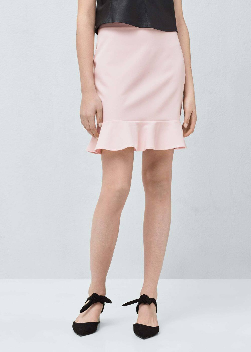 3f549426bf Fluted hem skirt - Woman | Mango Sierra Leone