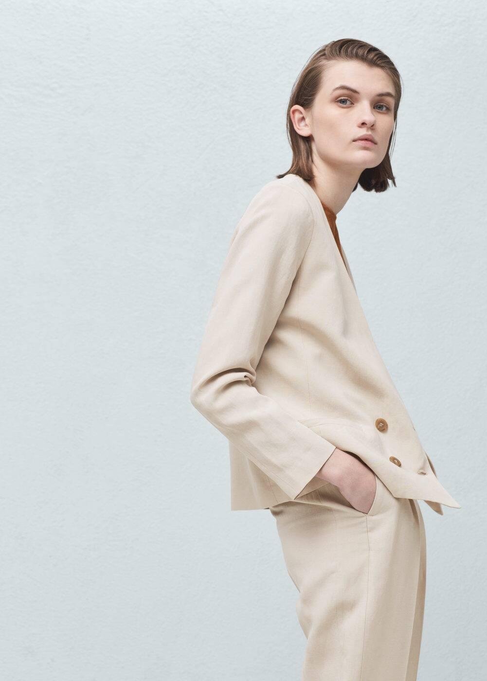 Tencel® fabric blazer | MANGO