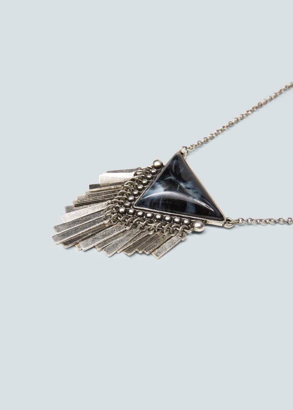 Collier pendentif triangle | MANGO