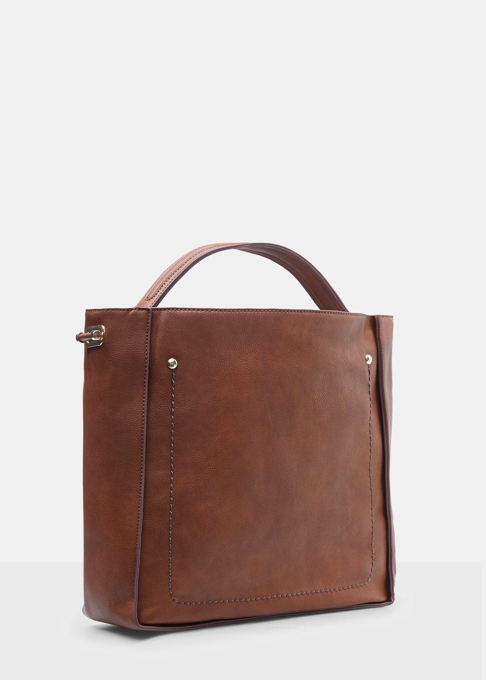 Pebbled effect shopper bag | VIOLETA BY MANGO