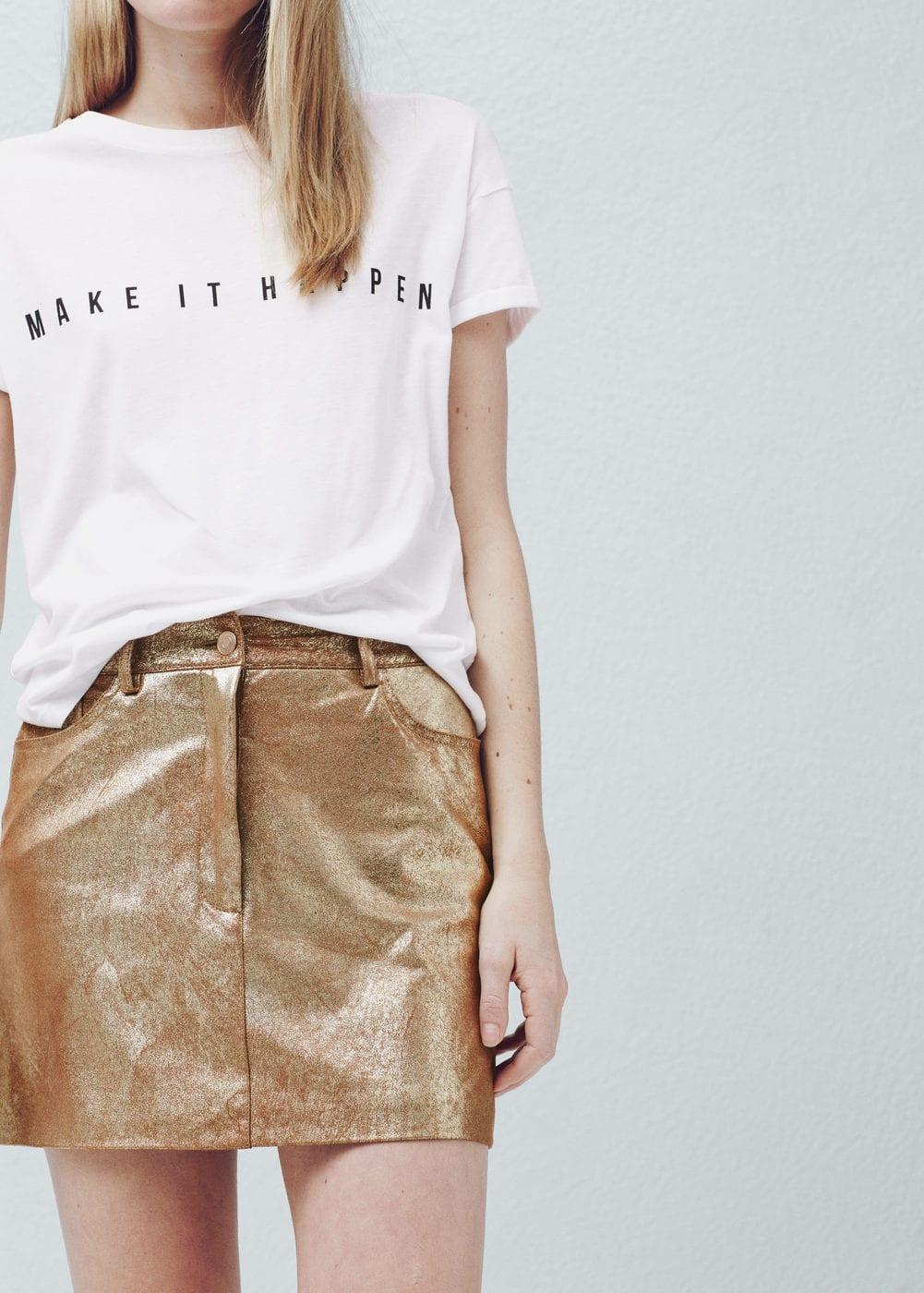 Metallic skirt | MANGO