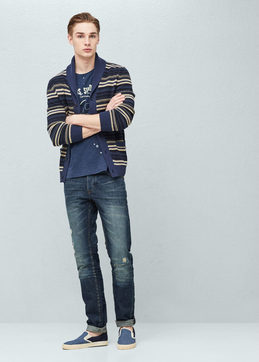Straight-fit dark marc jeans | MANGO MAN
