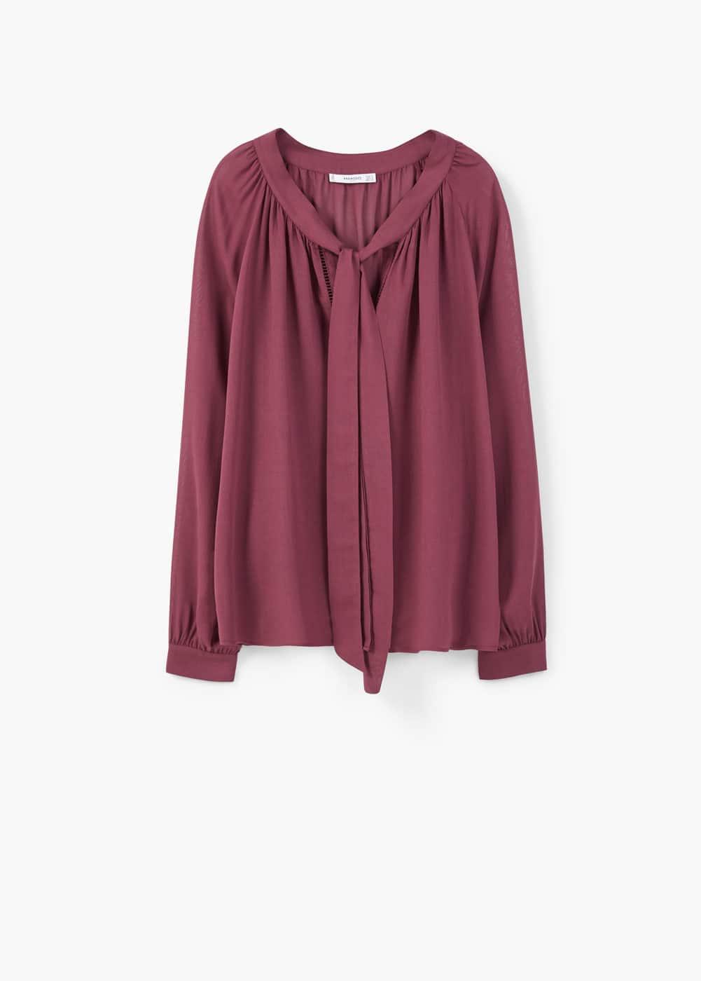 Blusa debruns rendados | MANGO