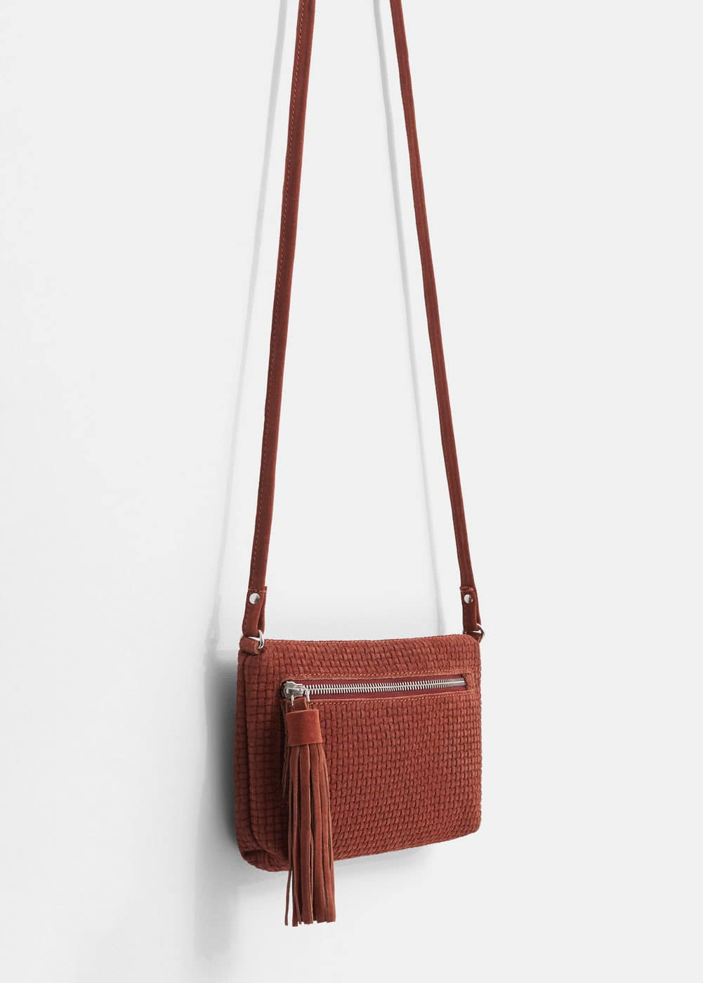Leather cross body bag | MANGO